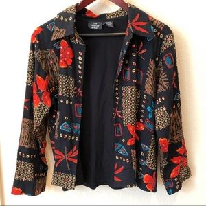 First Vision By Shirin Black Beaded Jacket